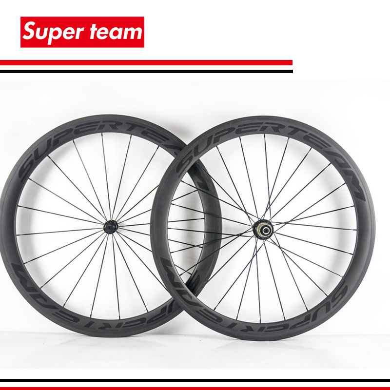Superteam Road Bike Wheels 700c 50mm Matte Carbon Clincher Complete Wheelset with Decals(China (Mainland))