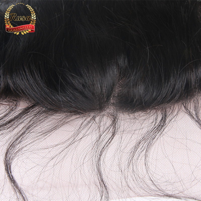 DHL Free Shipping 8A Virgin Brazilian Hair Lace Frontal Closure 13×4 Body Wave Human Hair Ear To Ear Lace Closure Bleached Knots