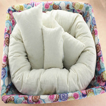 Delicate Hot! 2016 Fashion Kids Children Cute  4 PC Newborn Photography Basket Filler Wheat Donut  Posing Props Baby Pillow Ju2(China (Mainland))