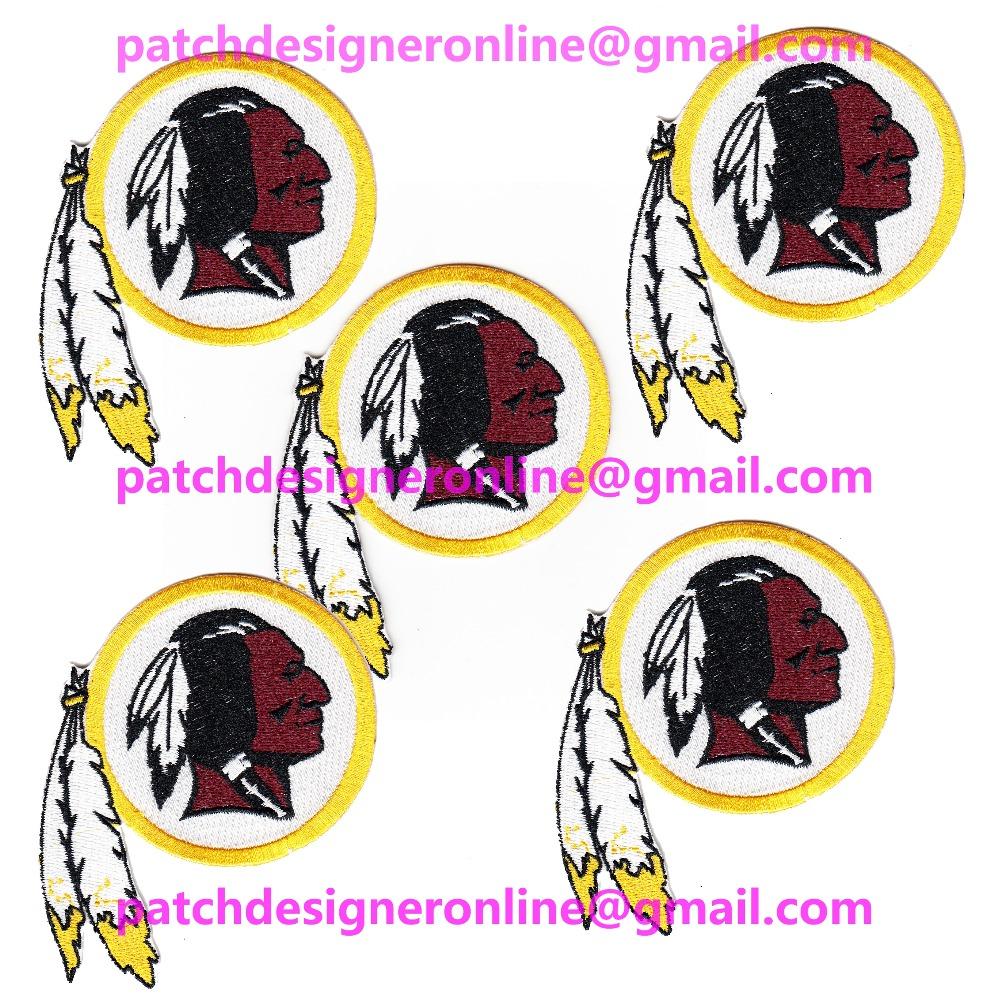 LOTS 5 PCS NEW FOOTBALL Washington Jersey Sports Iron On sew on Embroidered Patch Badge 3.7'' x 3.2''(China (Mainland))