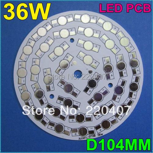 10pcs/lot 36W 104mm LED heat sink LED aluminium base plate LED PCB DIY for 36W high power LED bulb lamp free shipping(China (Mainland))