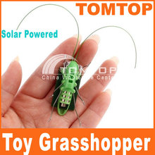 Power Energy Solar Toys Mini Grasshopper For Kids Solar Grasshopper game Fun Bug Robot Toys for children  Free Shipping(China (Mainland))