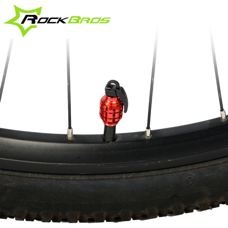 ROCKBROS Bike Motorcycle Wheel Tire Tyre Caps Valve Dust Cover Bicycle Accessories 4Colors(China (Mainland))