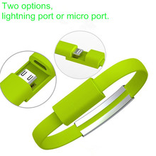 Mobile Phone Micro USB Cable Wristband Bracelet Data Sync Charge Cables Wristband For Samsung Xiaomi HTC Android and iPhone