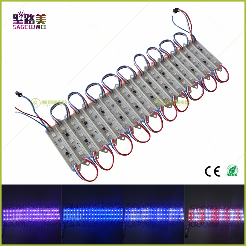 20pcs/string DC12V 0.72w IP65 3pcs SMD5050 RGB full color programmable WS2811 LED Pixel Module Lights Advertising letters sign(China (Mainland))