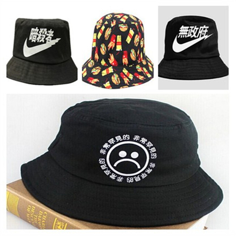 Men/woman Bucket Hats 2015 New Arrived Embroidery Brand Cotton Bucket hat High Quality Hip-Hop Fisherman Hat Drop Shipping(China (Mainland))