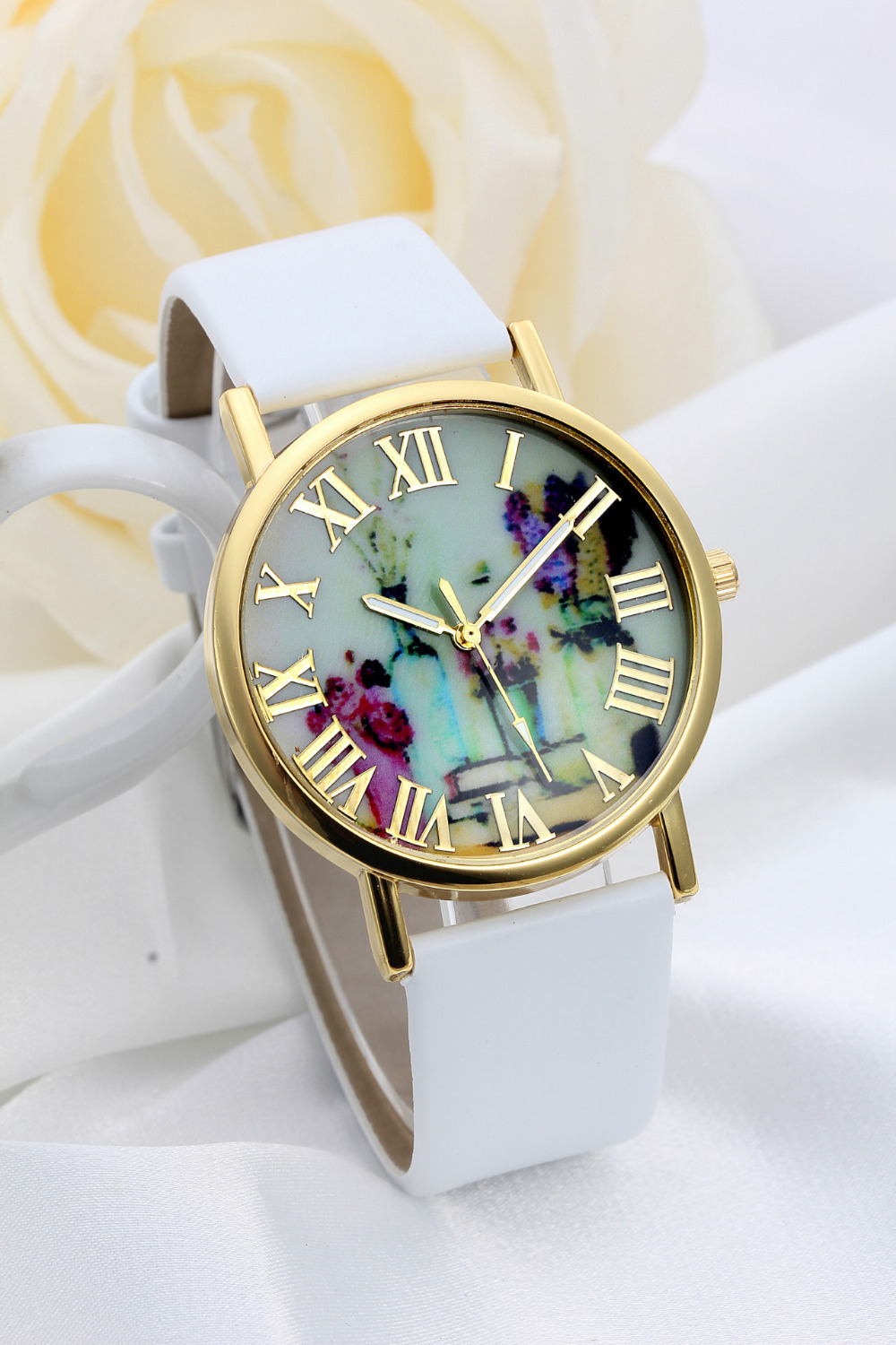 Ssz007 Women Watch Leather Trendy Colorful Flowers Quartz. Message Bracelet. Julia Engagement Rings. Wedding Engagement Rings. Charm Pandora Bracelet. Laser Cut Rings. Infinity Engagement Ring With Wedding Band. Deer Brooch. Pear Earrings