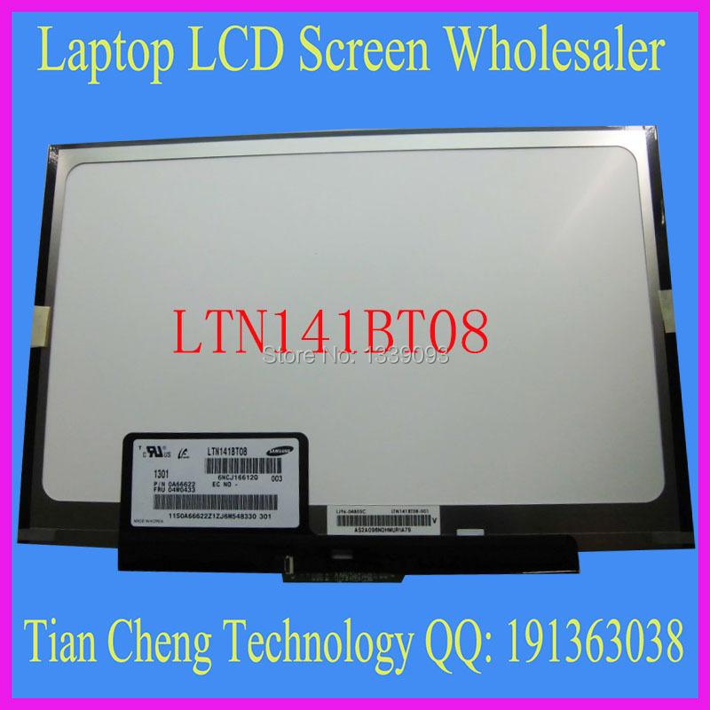 Free Shipping LTN141BT08 LT141DEQ8B00 LCD Screen for IBM Lenovo thinkpad T400S T410S FRU:04W0433 1440*900 Slim LED PANEL(China (Mainland))