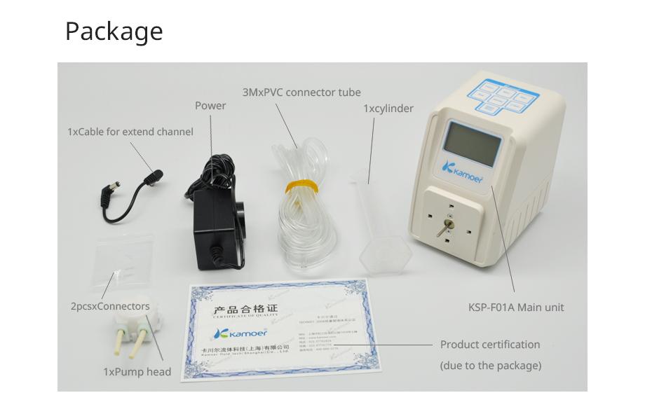 Kamoer KSP-F01A Amount Adjustable Peristaltic Pump (LCD, Amount Adjustable, High Precision, Small Peristaltic Pump, Liquid Pump)