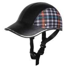 Motorcycle Helmet Baseball Cap Style Plaid Half Open Face Shorty Helmet Safety Hard Hat Anti-UV Helmets cascos para moto 6 Color(China (Mainland))
