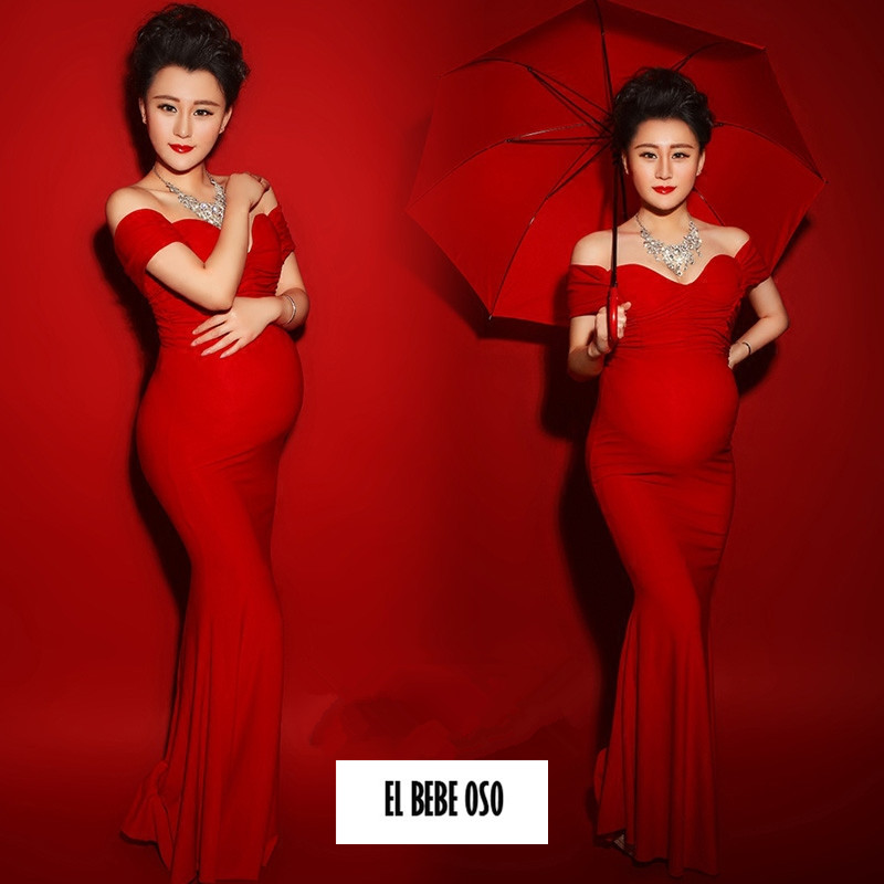 EL BEBE OSO Fashion Maternity Dresses Photography Props Summer Formal Pregnant Women Maxi Dress Sexy Maternity Clothes Retail(China (Mainland))