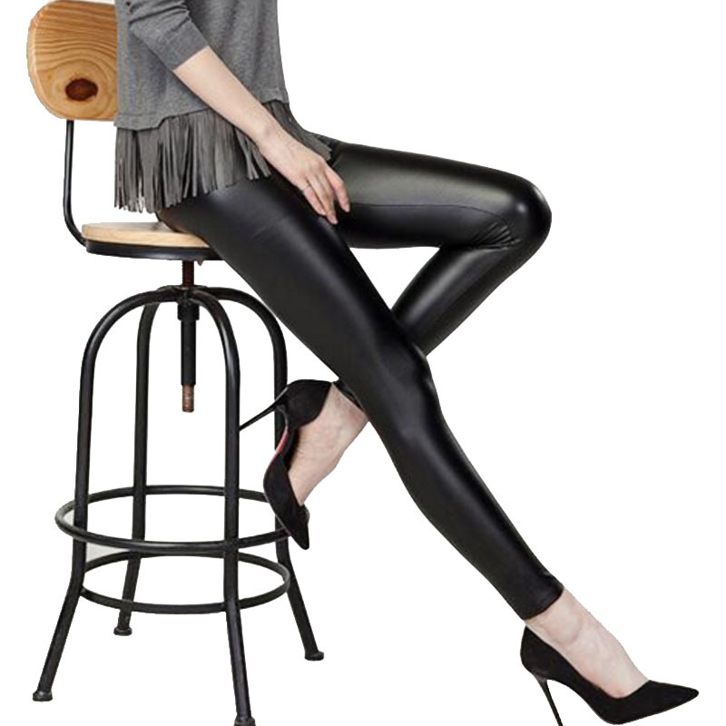 Women Leggings Faux Leather High Quality Slim Leggings New Fashion Plus Size Elasticity Sexy Pants