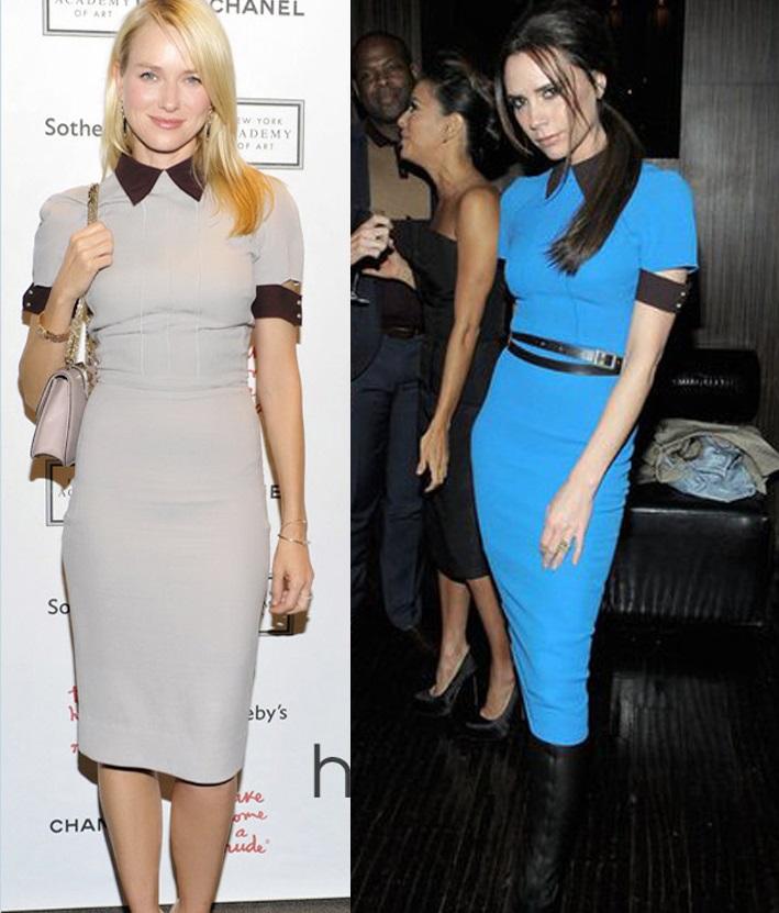 Spring European Plus Size New arrival Women's Slim Dresses Victoria Beckham Turn-down Collar half sleeves One-piece Dress BLUE(China (Mainland))