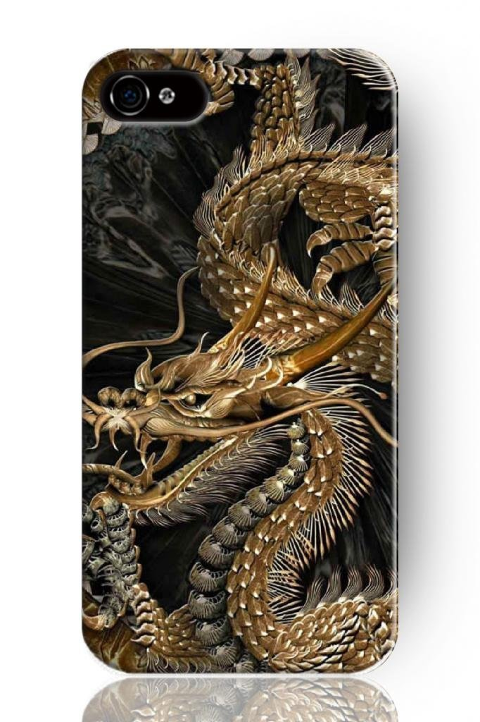 - NEW Fashion Design Hard Protect Skin Case Cover Shell for Mobile Cell Phone for apple for iphone 4 4S -golden chinese dragon(China (Mainland))