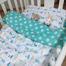 Nueva caliente cama cuna 100% cottotton de dibujos animados infantil 3 unids sistema del lecho del bebé almohada + hoja de cama + funda de edredón sin relleno