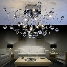 New Free Shipping 11 Light Chrome K9 Crystal Chandelier Modern Crystal Chandelier 110V/220V(China (Mainland))