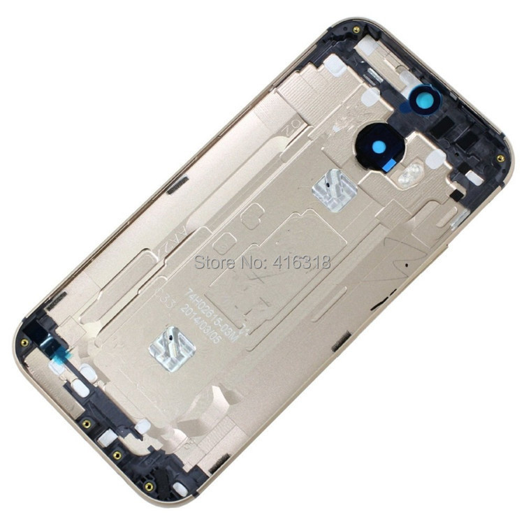 Silver/Gold/Gray New Original Housings Back Battery Cover Case Door For HTC One M8, Free Shipping(China (Mainland))