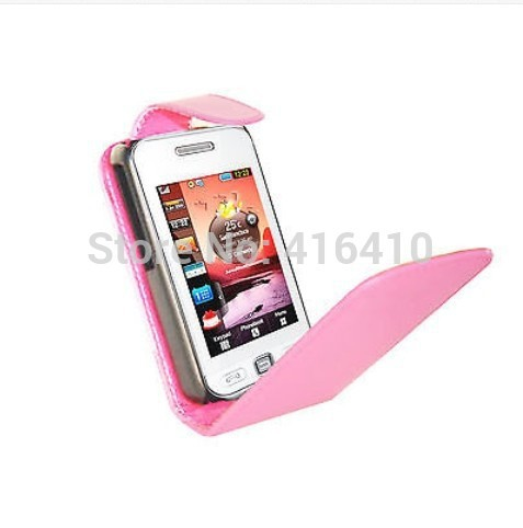 Flip Leather Cell Phones Case Pouch Cover For Samsung GT S5230 S5233 Tocco Lite Star Pink 5230+ FREE 1 STYLUS(China (Mainland))