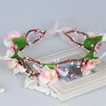 2016 New Wedding Headband Kids Party Ribbon Adjustable Flower Crown Beach Wreath Bride Hair Accessories Openwork