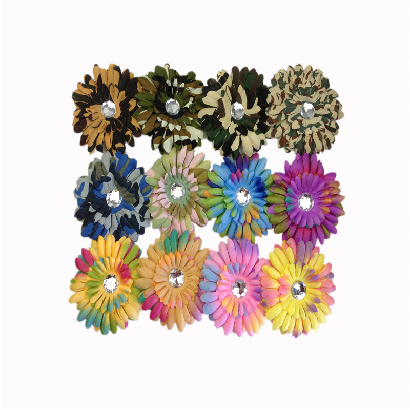 12pcs Wholesale Multicolor Choose Mix Lovely Daisy Flower Hair Clip Crochet Girls Baby Lady Children Hair AccessoriesYHA0001f(China (Mainland))