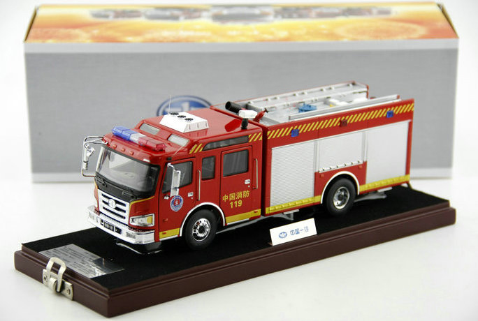 Original 1:43 Chinese fire truck model Hardcover truck model Perfect Collection A lot of moving parts(China (Mainland))