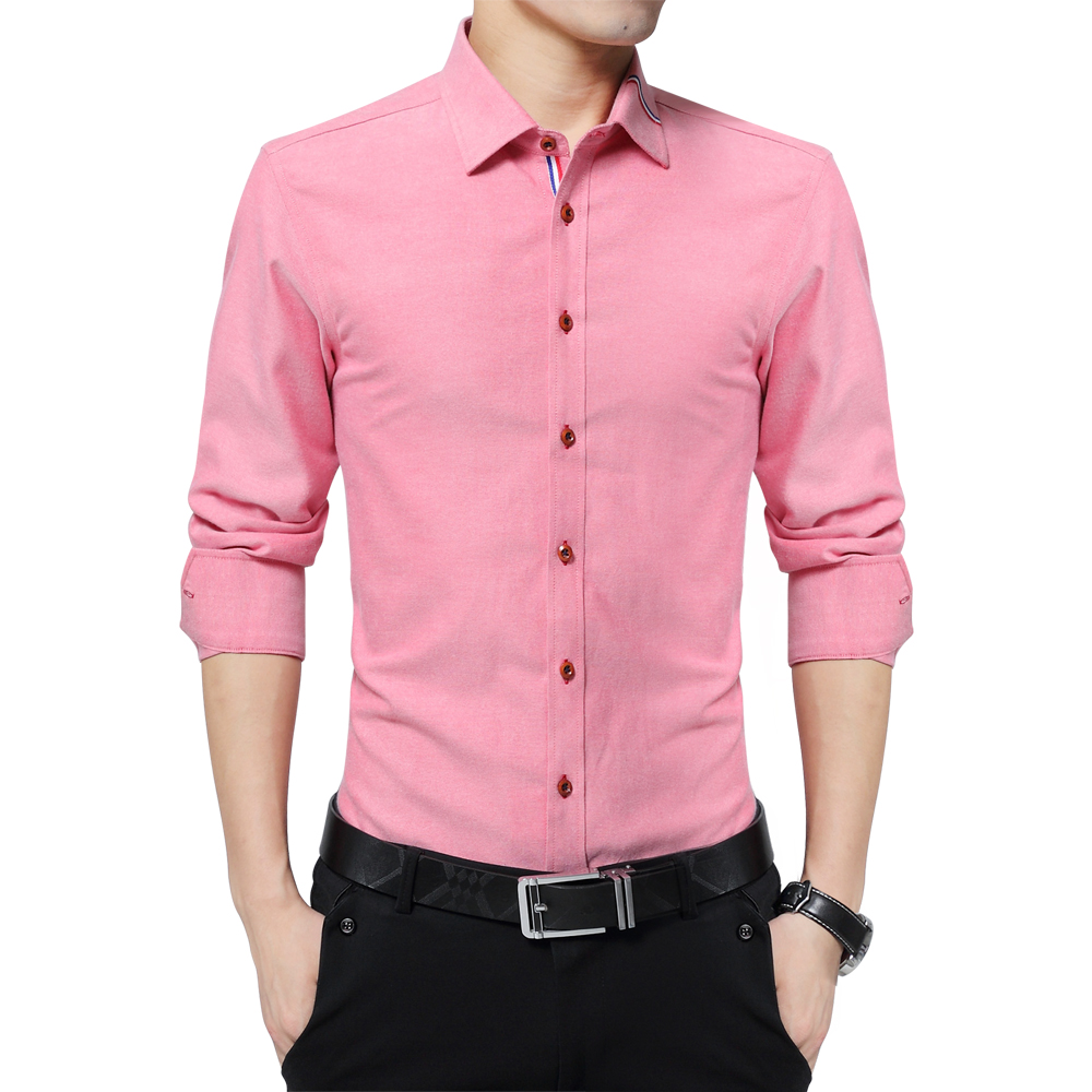 Popular mens red and white striped shirt buy cheap mens for Mens red and white striped dress shirt
