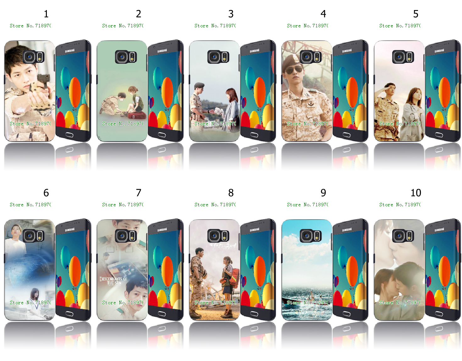 New Ultra Slim The descendants of the sun Plastic Mobile Phone Cases for Samsung Galaxy S6 Edge Plus(China (Mainland))