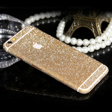 Full Body Glitter Sticker for iPhone 6 6s Shiny Phone Case edge shield Gold Bling Diamond Film Decals Matte Screen Protector