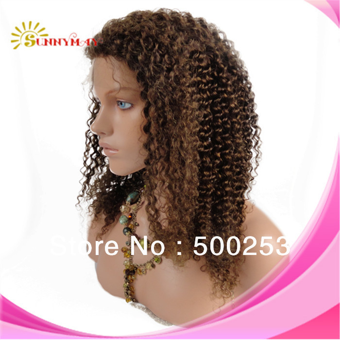 100%Brazilian virgin human hair afro kinky curl queen hair lace front wigs
