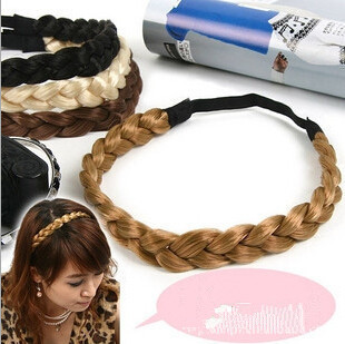 Belly Dance Plait Headwear Hair Decoration Braid Wig Pigtail Elastic Head Band Rope(China (Mainland))
