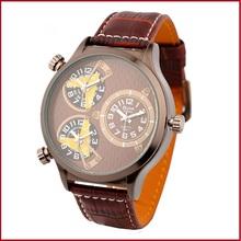 2015 súper ventas Oulm 3572 Male tres Movt reloj de cuarzo con esfera redonda y marca de lujo militar relojes de pulsera para hombre