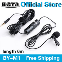 BOYA BY-M1 Omnidirectional Camera Lavalier Condenser Microphone for Canon Nikon Sony iPhone 6 Plus DSLR Camcorder Audio Recorder(China (Mainland))