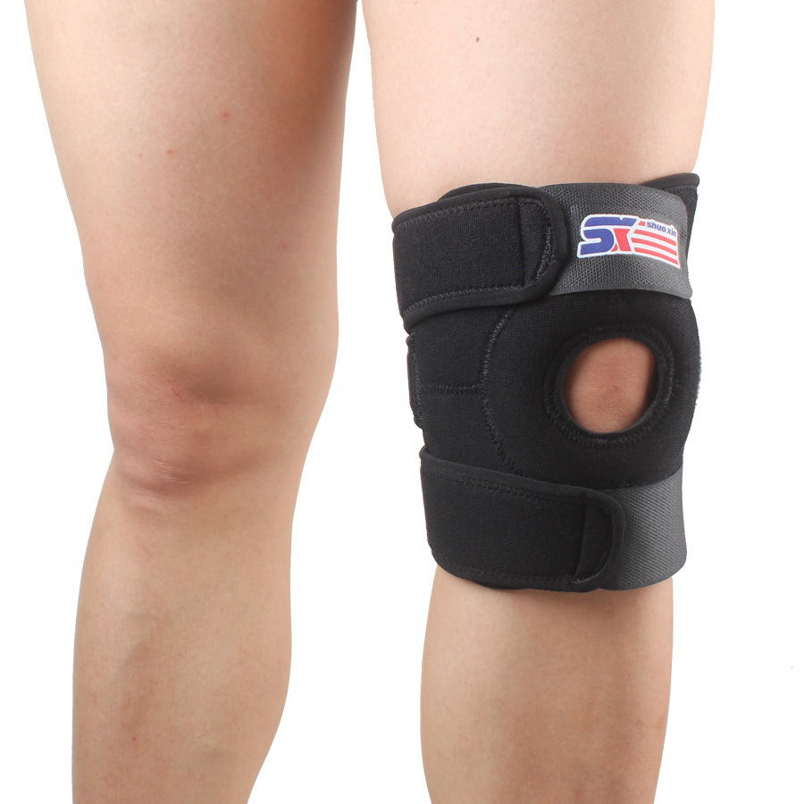 Free shipping adjustable outdoor Sport Leg Knee Patella Support Brace Wrap Protector Pad Sleeve football volleyball knee pad(China (Mainland))