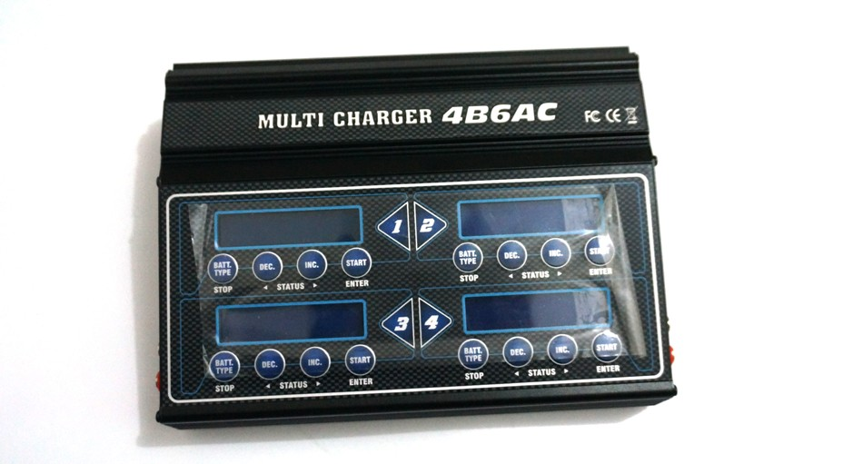 Imax Multi charger 4B6AC 50W*four RC lipo stability charger built-in energy provide for RC airplanes/automobile/ship/boat/helicopter Drones
