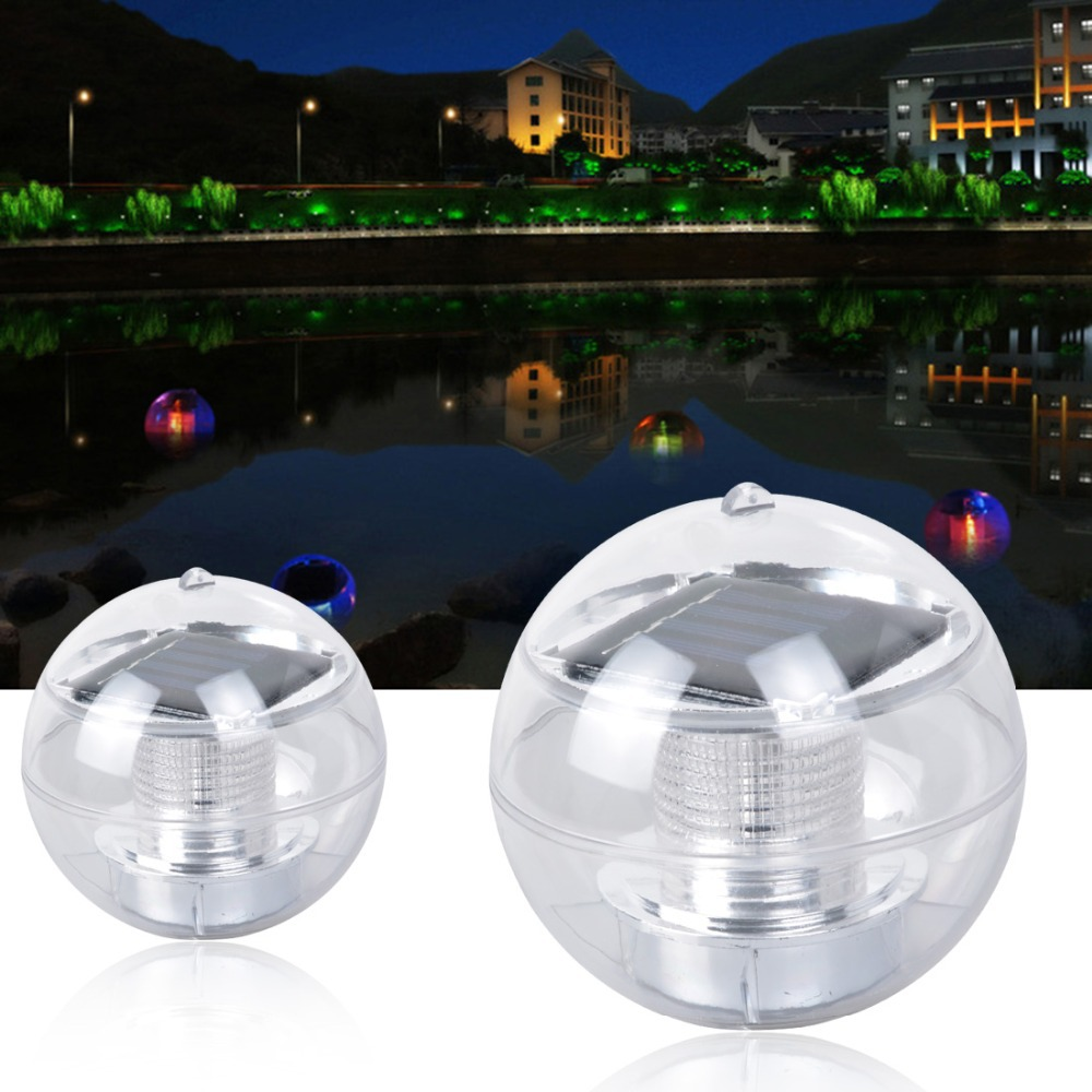 Multi Led Light Solar Floating Water Swimming Pool Ball 7 Colors In Solar Lamps From Lights