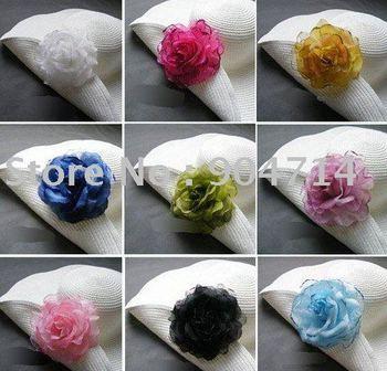 2011 NEW fashion hair clip flower/Simulation ornaments flowers/Artificial brooch/Large multi-purpose flower/16 COLOR/D12cm