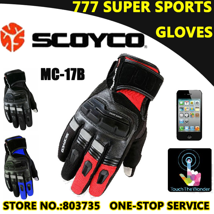 100% Waterproof Motorcycle Glove Scoyco MC17B Touch Sensitive Guantes Protective Cycling Racing Sport Gloves(China (Mainland))