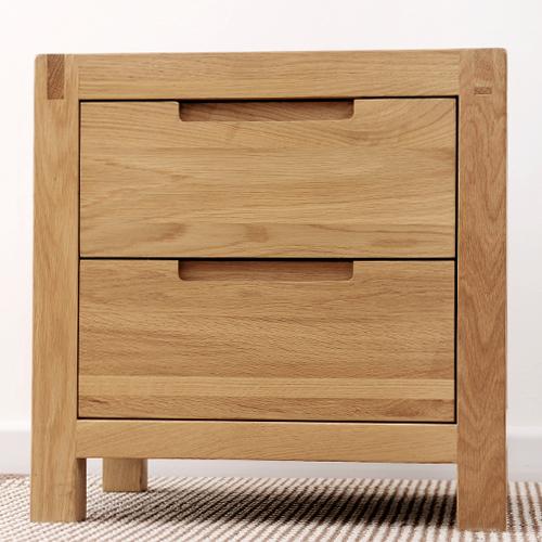 Dodge Furniture Minimalist Modern White Oak Wood Furniture