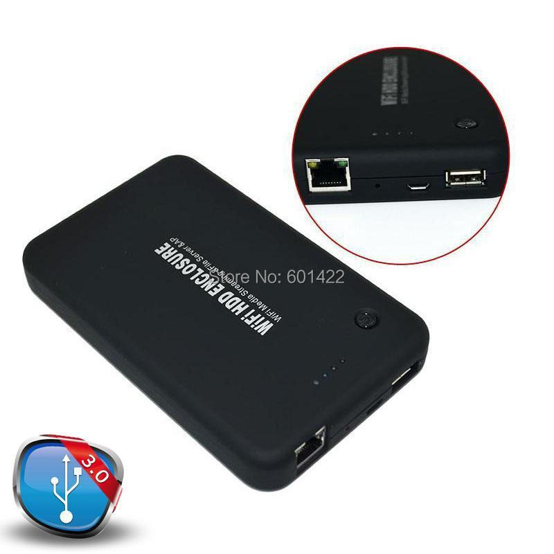 2pcs 2.5 inch USB 3.0 Hard Drive Disk HDD External Enclosure Case With WiFi Drive Router Power Bank Adapter(China (Mainland))