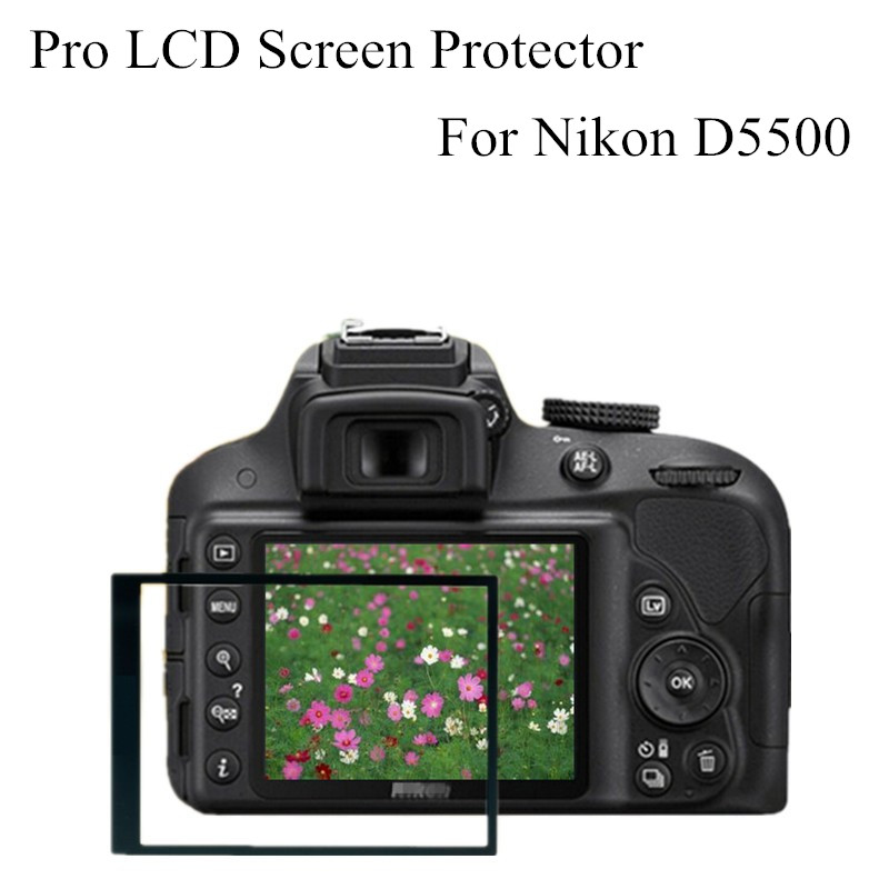 Professional Digital Camera Accessories Pro Optical Glass LCD Screen Protector Film Guard For Nikon D5500 5pcs(China (Mainland))