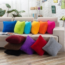 Wholesale PP Cotton Cushion Cover Solid Color Soft Feeling Customized Sofa Decor Case(China (Mainland))