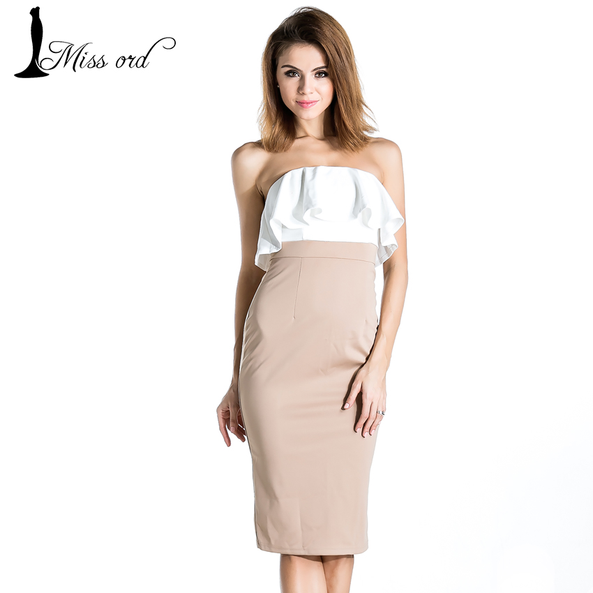 Free shipping 2015  Sexy strapless flounced collar dress FT2066
