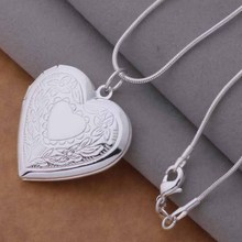 Free Shipping 925 Silver Necklaces & Pendants Fashion Silver Jewelry Surface patterns heart /cmyalefa dzkamqra AN736