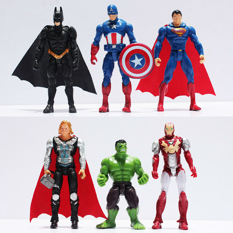 The Avengers figures super hero toy doll baby hulk Captain America superman batman thor Iron man Free Shipping(China (Mainland))