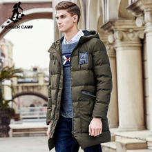 Pioneer Camp long thicken winter down jacket men brand clothing warm duck down coat male top quality men down parkas 625001(China (Mainland))