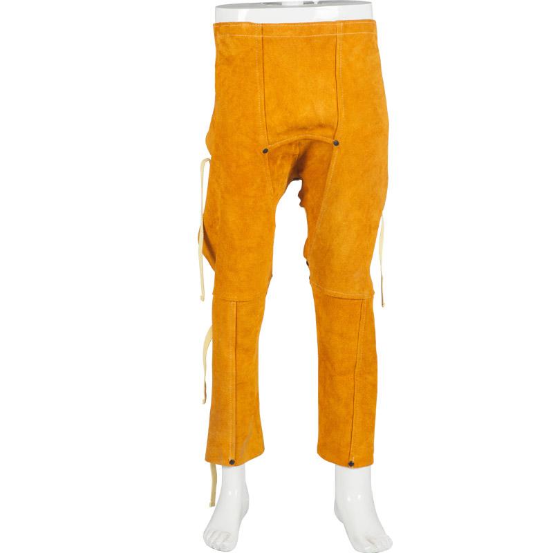Welding trousers breathable work pants cowhide pants spark wear-resistant heat resisting split cow leather welder apron(China (Mainland))