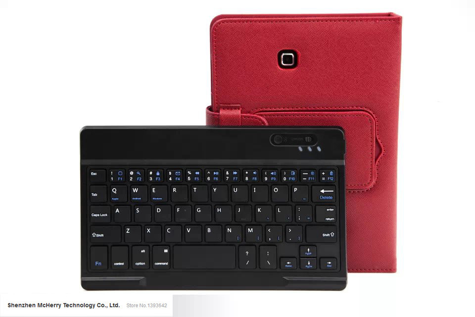 Removable Wireless Bluetooth Keyboard Case Cover For 7″ Samsung Galaxy Tab 4 7.0 T230 T231 White Black Red Pink