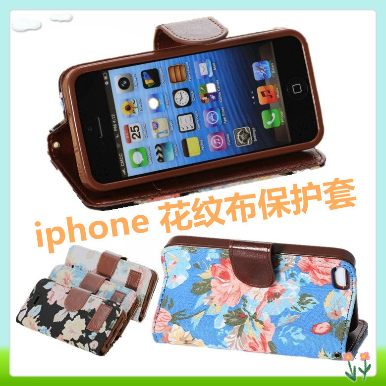 2015 iphone 5s case classic fabric holster Wallet Stand Apple 5C phone cases TPU back shell Cell phones cover - Shenzhen Wei Rui Technology Co., Ltd. store