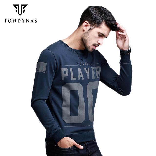 Человек моды письмо цифровой длинным рукавом толстовки, мужской пуловер толстовки ...
