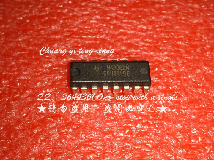 5PCS/LOT CD4504BE DIP16 line voltage level converter chip - chip One from the sale(China (Mainland))